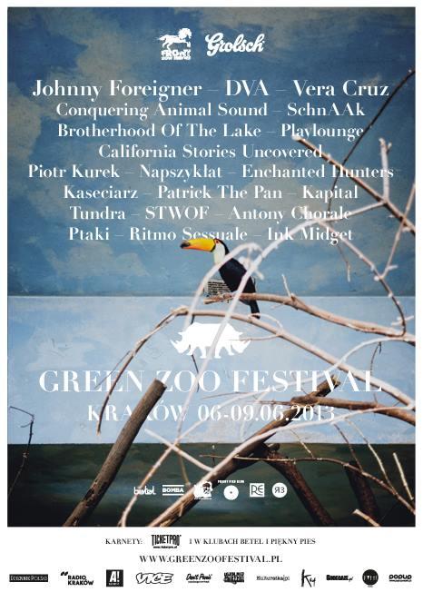 Plakat Green Zoo Festival 2013 (autor: Michał Dąbrowski, zdjęcie: Bartek Warzecha)